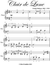 Clair De Lune Easiest Beginner Piano Sheet Music