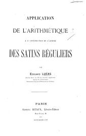 Application de l'arithmétique à la construction de l'armure des satins réguliers
