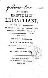 Commercii epistolici Leibnitiani...