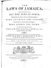 The Laws of Jamaica: 1681-1759