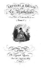 Lettres à Émilie sur la mythologie: Volume1
