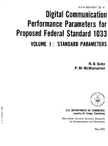 Digital Communication Performance Parameters for Proposed Federal Standard 1003 PDF