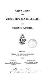 Grundriss der neuisländischen Grammatik