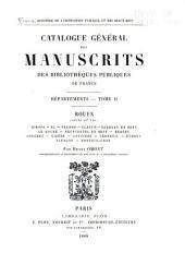 Catalogue général des manuscrits des bibliothèques publiques de France: Volume2