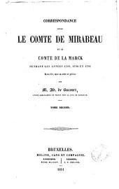 Correspondance entre le comte de Mirabeau et le comte de La Marck pendant les années 1789, 1790 et 1791 recueillie, mise en ordre et publiée par Ad. de Bacourt: Volume2