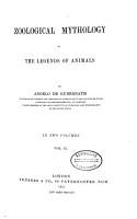 Zoological Mythology PDF