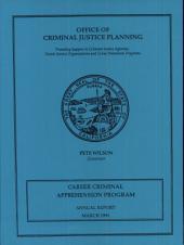 Career Criminal Apprehension Program: Annual Report