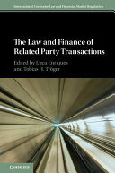 The Law and Finance of Related Party Transactions