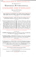Dictionarium Britannicum  Or a More Compleat Universal Etymological English Dictionary Than Any Extant     PDF