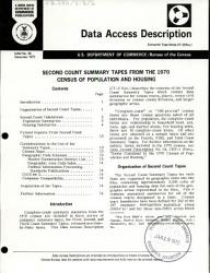 Second Count Summary Tapes From The 1970 Census Of Population And Housing Book PDF