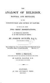 The works of ... Joseph Butler: Volume 1