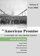 The American Promise  Value Edition  Volume 2 Book