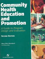 Community Health Education and Promotion PDF