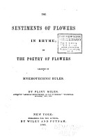 The Sentiments of Flowers in Rhyme  Or  The Poetry of Flowers Learned by Mnemotechnic Rules PDF
