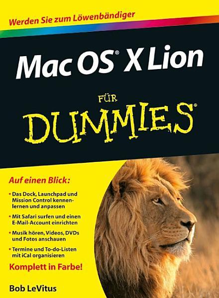 Mac OS X Lion f  r Dummies PDF