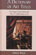 A Dictionary of Art Titles PDF