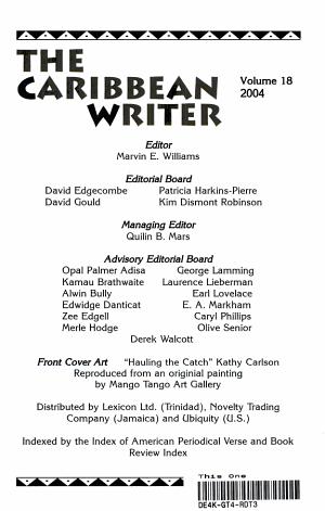 Caribbean Writer 2004 PDF