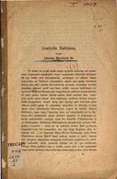 Analecta Babriana