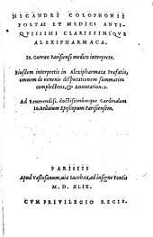 Alexipharmaca