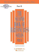 The Second Book of Baritone/bass Solos