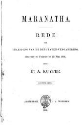 Maranatha: rede ter inleiding van de Deputaten-vergadering... Utrecht 12 mei 1891