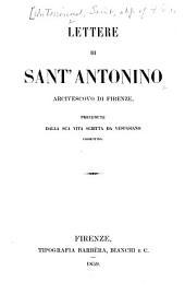 Lettere di sant' Antonio: areivescovo di Firenze
