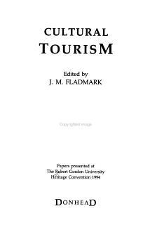 Cultural Tourism Book