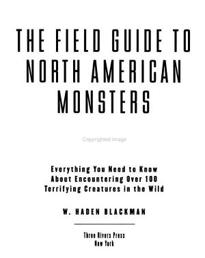 The Field Guide to North American Monsters PDF