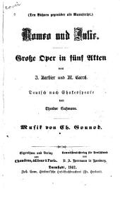 Romeo und Julie: grosse Oper in fünf Akten