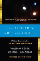 The Actor s Art and Craft PDF
