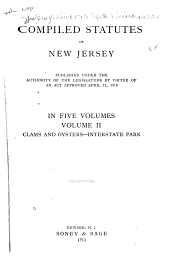 Compiled Statutes of New Jersey: Volume 2