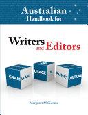 Australian Handbook for Writers and Editors PDF