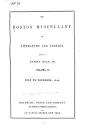 The Boston Miscellany of Literature and Fashion: Volume 2, Issue 2
