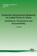 Corporate Governance Research on Listed Firms in China PDF