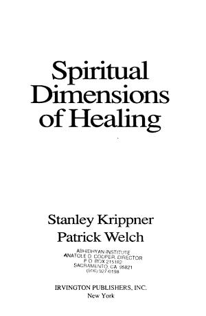Spiritual Dimensions of Healing