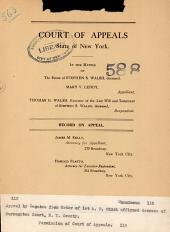 Court of Appeals State of New York