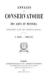 Annales du Conservatoire des arts et métiers: Volume2;Volume7