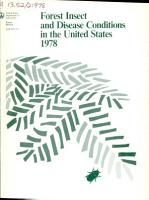 Forest Insect and Disease Conditions in the United States PDF