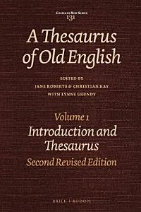A Thesaurus of Old English  Introduction and thesaurus PDF