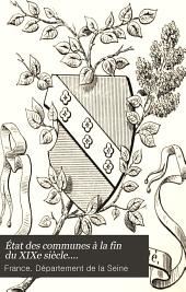 État des communes à la fin du XIXe siècle....