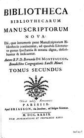 Bibliotheca bibliothecarum manuscriptorum nova