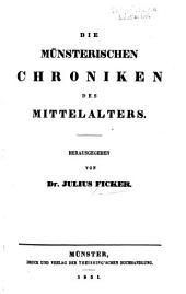 Die münsterischen chroniken des mittelalters
