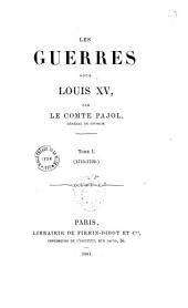 Les guerres sous Louis XV: Volume1