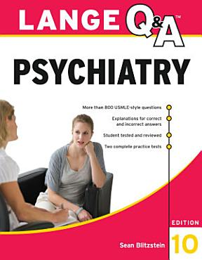 Lange Q A Psychiatry  10th Edition PDF