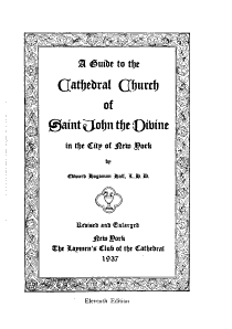 A Guide to the Cathedral Church of Saint John the Divine in the City of New York PDF