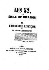 L'équilibre financier par le réforme administrative