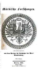 Märkische Forschungen: Bände 7-9