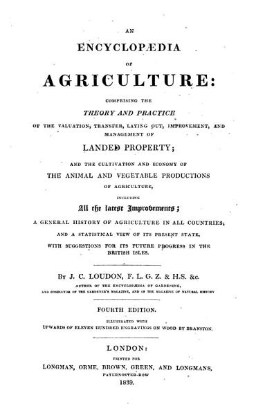 Download An encyclop  dia of agriculture     Fourth edition  etc Book