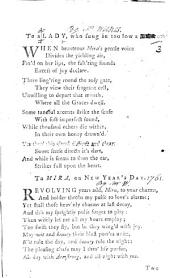 To a Lady, who sung in too low a tone. [Verses. By John Wilkes. With MS. additions.]