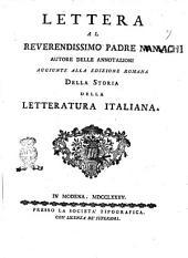 Lettera al reverendissimo padre N.N. autore delle annotazioni aggiunte alla edizione romana della Storia della letteratura italiana